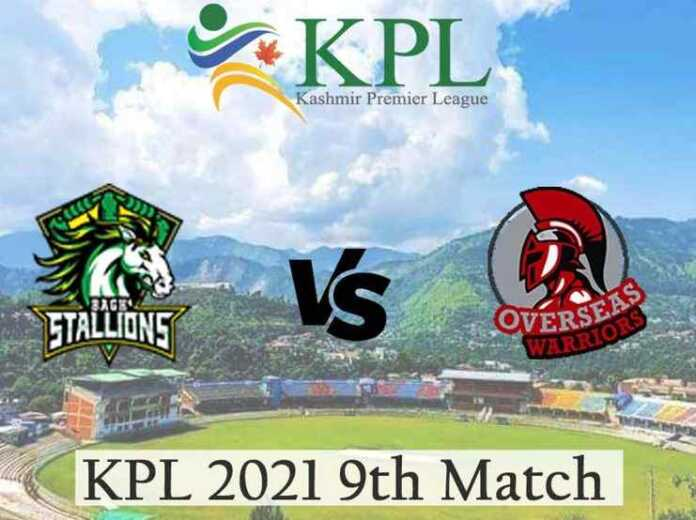Bagh Stallions vs Overseas Warriors Live Telecast and Score, KPL 2021 Match 9 BS vs OW