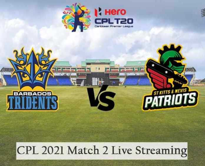 Barbados Royals vs St Kitts and Nevis Patriots Live Telecast and Score, CPL 2021 Match 2 STKNP vs BR